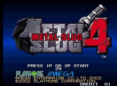 Metal Slug 4 - Snk Neo Geo Full Kit Mvs Jamma (No Aes)
