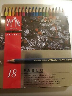 CARAN DACHE//CREATIVE ART 666380 CARAN DACHE ARTIST PABLO 80 COLOUR PENCIL MET...