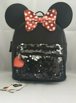 713736e6e6 Disney Minnie Mouse Back Pack Girls Sequence Red Bow Shoulder Bag Primark
