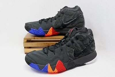 e09b59a26ecfbb NIKE KYRIE 4 IV Venus Flytrap Basketball Shoes Black Orange 943806 ...