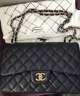 ca3ae41c8225 Chanel Classic Jumbo Double Flap Navy Caviar with Gold Hardware (100%  Authentic)