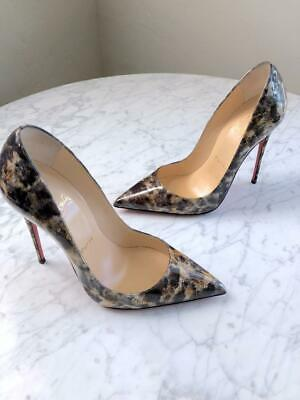 98ee9cfcb4be New Christian Louboutin So Kate 120 Vernis Mouchete Patent Pumps Heels 36