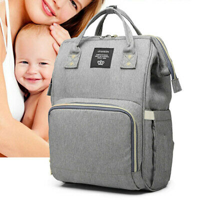 Mummy Backpack Bag Diaper Baby Nappy Travel Large Capacity Maternity Us Lequeen