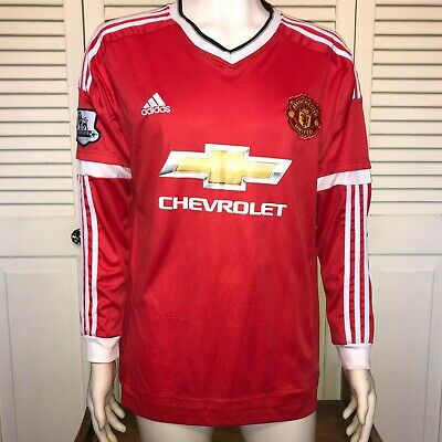 huge discount f9856 04a9f NIKE MANCHESTER UNITED Men's Home Kit Soccer Jersey Long Sleeve XLarge