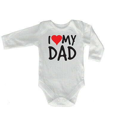 Funny Baby Infants Babygrow Romper Jumpsuit - I Heart Love My Dad