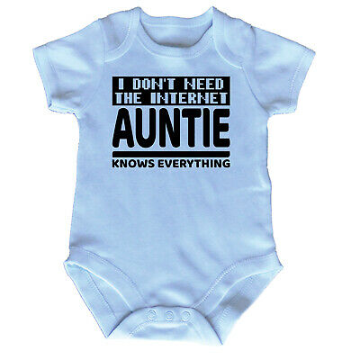 Funny Baby Infants Babygrow Romper Jumpsuit - I Dont Need The Internet Auntie