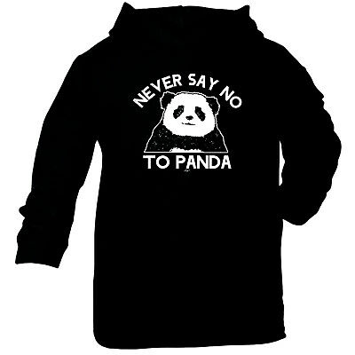 Funny Baby Infants Cotton Hoodie Hoody - Never Say No To Panda