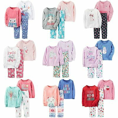 Carters NWT Size 2T 3T Pajama Set 3 Piece Toddler Girls Warm Winter Soft Fleece