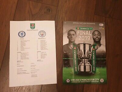 Chelsea vs Manchester City CARABAO CUP FINAL 2019 with teamsheet