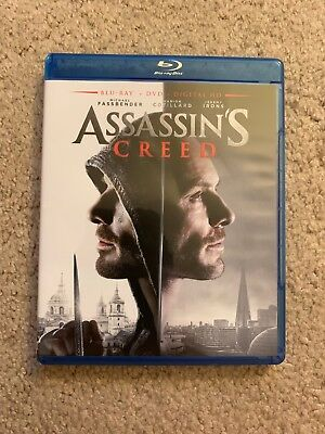 Assassin's Creed Blu Ray DVD no Digital Michael Fassbender Jeremy Irons