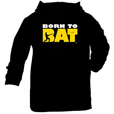 Funny Baby Infants Cotton Hoodie Hoody - Born To Bat Cricket