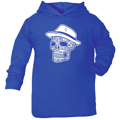 Funny Baby Infants Cotton Hoodie Hoody - Fedora Candy Skull