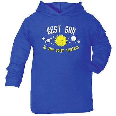 Funny Baby Infants Cotton Hoodie Hoody - Best Son In The Solar System