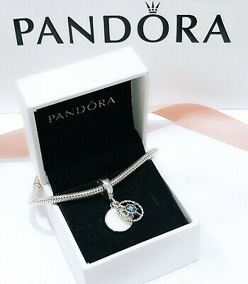 NEW PANDORA 925 Silver Compass Rose Follow Your Dreams Charm Pendant 797196EN23