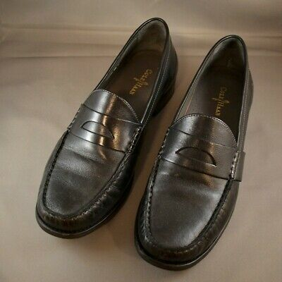 43b70c6412a COLE HAAN LAUREL womens sz 7 B M black woven leather penny loafers ...