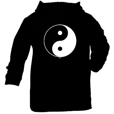 Funny Baby Infants Cotton Hoodie Hoody - Ying Yang Solid