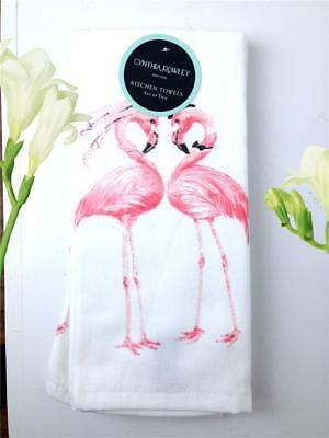 NWT SUPER CUTE! Cynthia Rowley PINK FLAMINGOS ON TURQUOISE WRAPPING PAPER