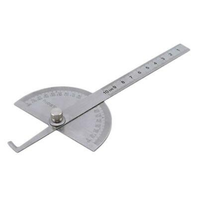 Angle Finder Rotary Ruler Round Head 180-degree Protractor Measure Tool Q