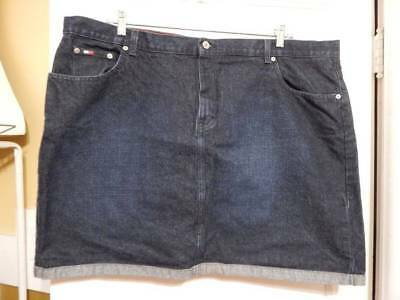 28a4faad24b Plus Size Womans Tommy Hilfiger Dark Denim Rolled Hem Mini Skirt 24 24W 2X!