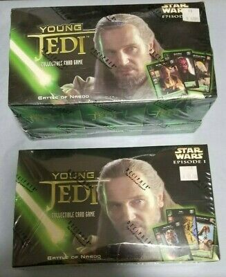 Lot Of 1999 Star Wars Swccg Young Jedi Battle Of Naboo New Factory Sealed Boxes