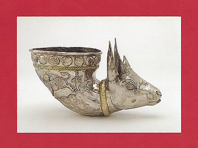Spouted Vessel Gazelle Protome Ancient Eastern Art Vtg Postcard Smithsonian Inst