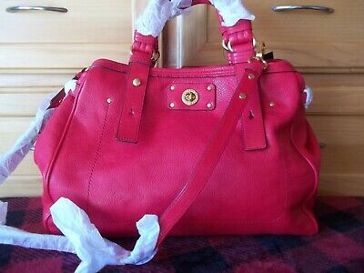 323a8e2dd1 NWT MARC JACOBS Red Turnlock Pebble Grain Leather Satchel -  125.00 ...