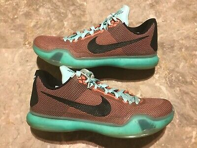 brand new 77349 b232d 2015 Nike Kobe 10 X Low EASTER Hot Lava Sunset Glow Green Size 12 (705317