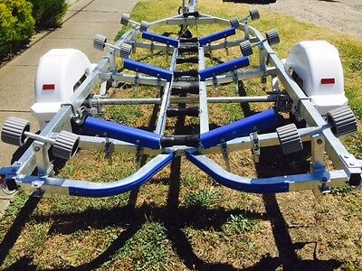 Precision boat trailer 5.2 mt total length galv drive on roller, SKIDS AVAIL