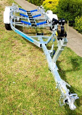 Precision Boat Trailer Drive On Galvanised 6.5mt TANDEM suit 18-20ft Hull,