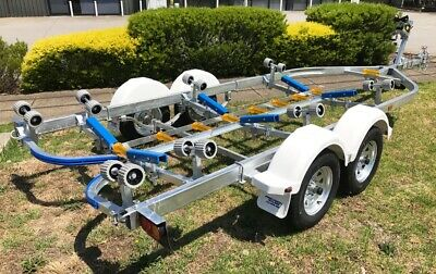 Precision Boat Trailer Drive On Galvanised 6.5mt TANDEM *Soft Poly Upgrade*