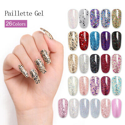 Glitter Sequins UV Gel Nail Polish Fast Dry Vernis à ongles manucure LILYCUTE