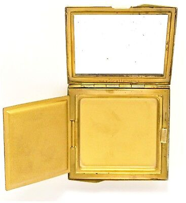 VINTAGE Collectable Brass Powder Compact - Made by Stratton circa1950's