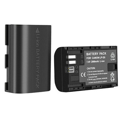 2-Pack LP-E6 Replacement Li-ion Battery For Canon C700 XC15 EOS 60D 70D 80D 5D
