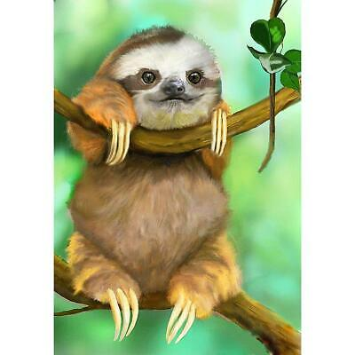 5D DIY Full Drill Round Diamond Painting Cute Sloth Cross Stitch Embroidery Kits