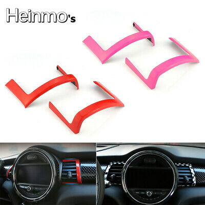 Car Red Interior Front Air Outlet Vent Decor Ring Cover For Mini Cooper F55 F56
