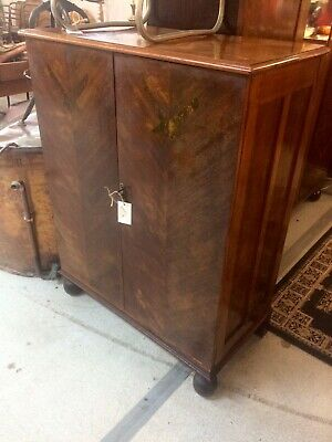 1930's Art Deco Low Boy / Cupboard - Bedroom Furniture