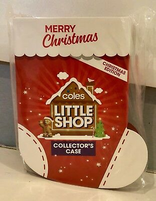 Coles Little Shop Mini Collectables Christmas Edition Case - Brand New