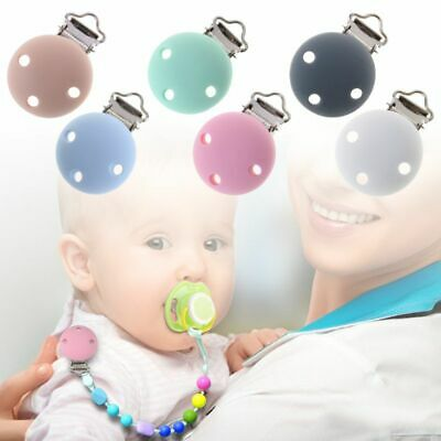 New Baby Pacifier Clip Round Silicone Saliva Towel Soother Teether Nipple Holder