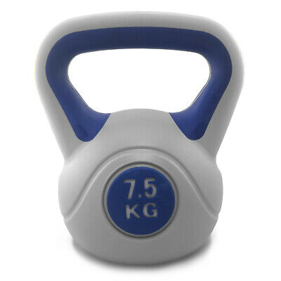 7.5kg Vinyl Kettlebell Weight Training Strength Home Fitness Gym Fit4Life