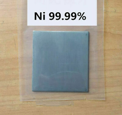 Pure Nickel Metal Thin Sheet Plate 0.5mm x 100mm x 200mm Electroplating Anode