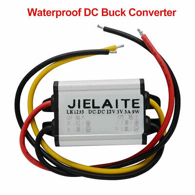 Convertisseur DC-DC étanche 12V en 3 / 3.3 / 3.7 / 5/6 / 9V  Power Module Supply