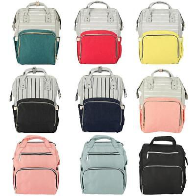 Waterproof Mummy Backpack Baby Diaper Nappy Bottle Large Storage Changing Bag HL