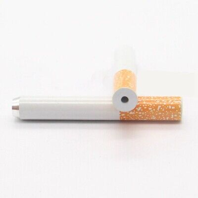 2Pcs 55mm Aluminum Portable Smoking Tobacco Cigarette Shaped Pipe Dugout Hi ZH6
