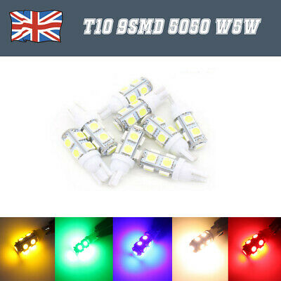 T10 W5W 501 9 Smd 5050 Led High Power Canbus Car Side Light Wedge White Bulb