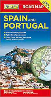 Philip's Spain and Portugal Road Map (Philips Road Maps), New, Philip's Maps Boo