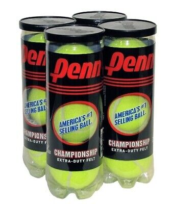 Penn Championship Extra Duty Tennis Balls for Sports Equipment 4-Can Pack