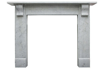 Small reclaimed Victorian Carrara marble fireplace surround (6-999)