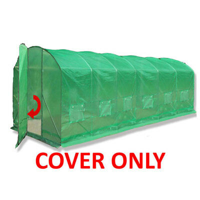 Spare Cover; 3 Sizes High Side Polytunnel Greenhouse Pollytunnel Poly Tunnel