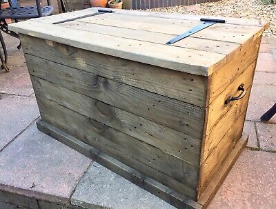 Coffee Table Toy Chest.Heavy Duty Rustic Handmade Wooden Toy Trunk Box Shoe Storage Chest Coffee Table
