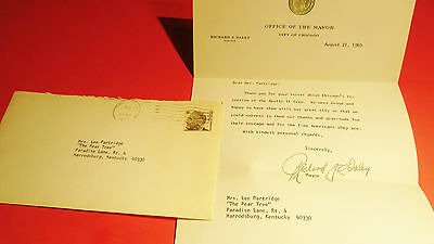 Vintage City Of Chicago Mayor Richard J. Daley Letter 1969 Apollo Ii Crew Visit